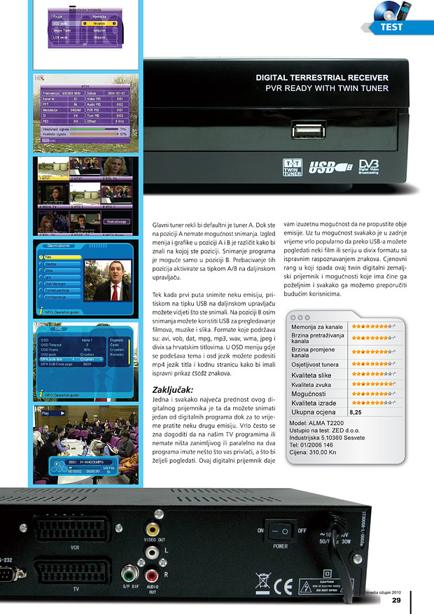 DVB-T prijemnik ALMA T2200 2