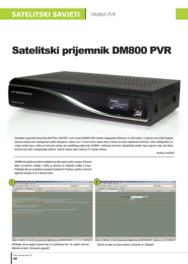 DM-800PVR - novi softver 1
