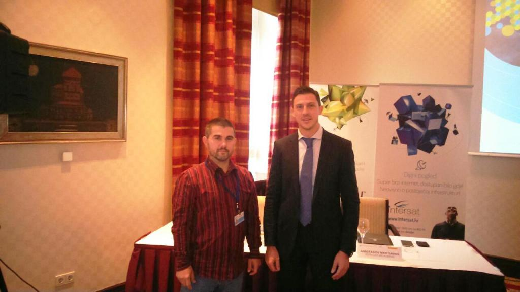 Andrija Jovicevic - Sat-Multimedia portal i Anastasios Nikoyannis Regional Area Manager for Broadband