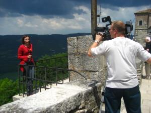 urednica dnevnog programa Eliana Batagelj i snimatelj Ener Špada