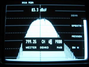Prikaz 62 kanala kroz filtar 61 kanala
