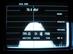 Prikaz 62 kanala kroz filtar 63 kanala