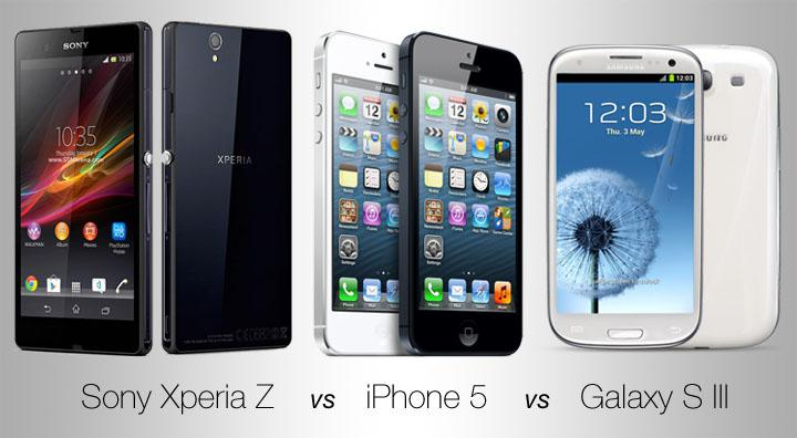 Sony-Xperia-Z-vs-Samsung-Galaxy-S3-vs-Apple-iPhone-5