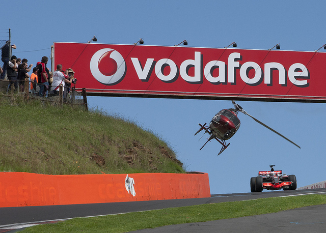 during the Vodafone Formula One and V8 Supercar driver exchange at the Mount Panorama Circuit, Bathurst, New South Wales, Tuesday, March 22, 2011.