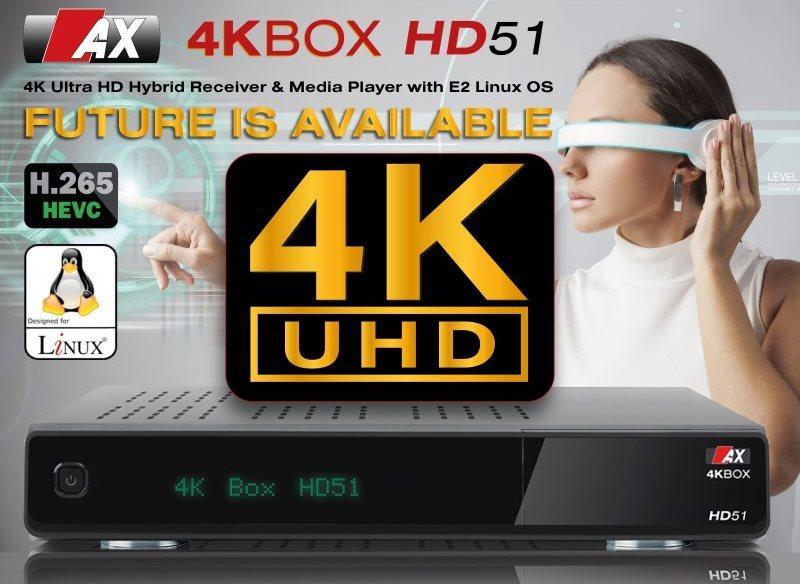 AX-4K-BOX-HD51-UHD-2160p-E2-Linux-Receiver