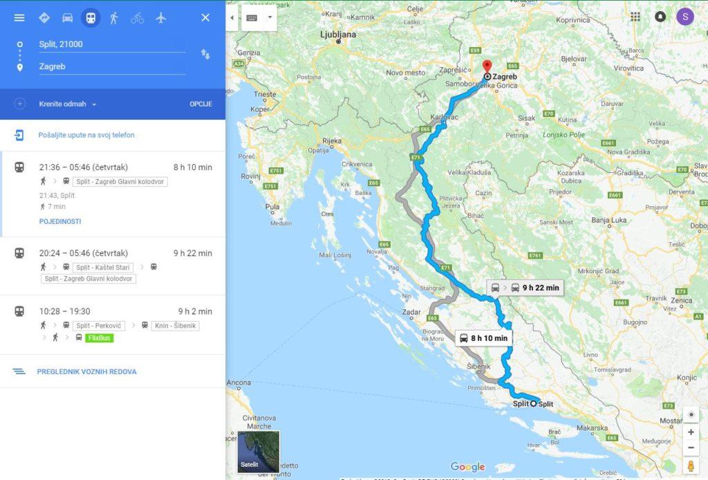 Vozni Red Hrvatskih Zeljeznica Dostupan Na Google Maps