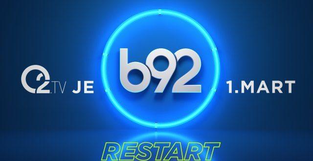 Od 1.marta O2.TV postaje B92