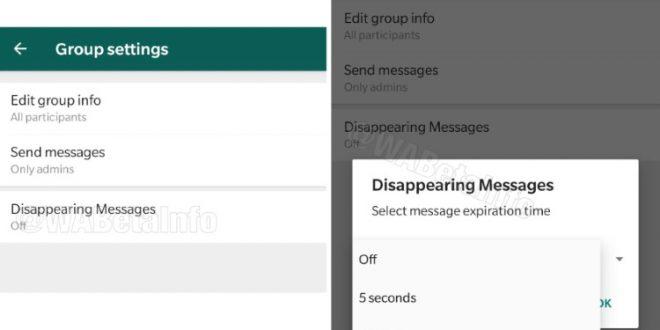WhatsApp uvodi tajmer poruke