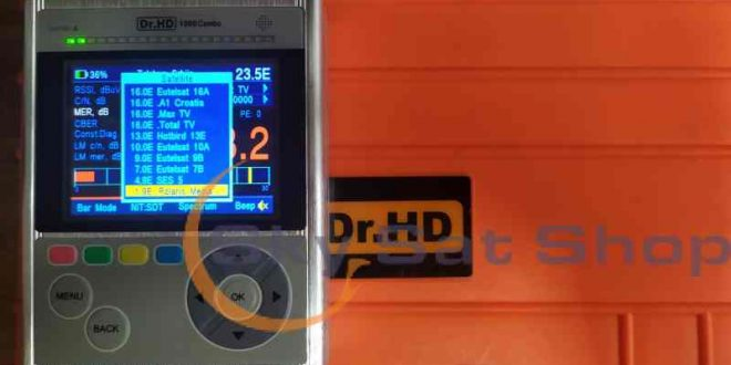 Satelitska lista za Dr.HD 1000 Combo
